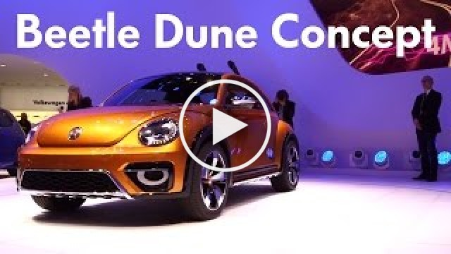 Volkswagen Beetle Dune Concept car at 2014 Detroit Auto Show